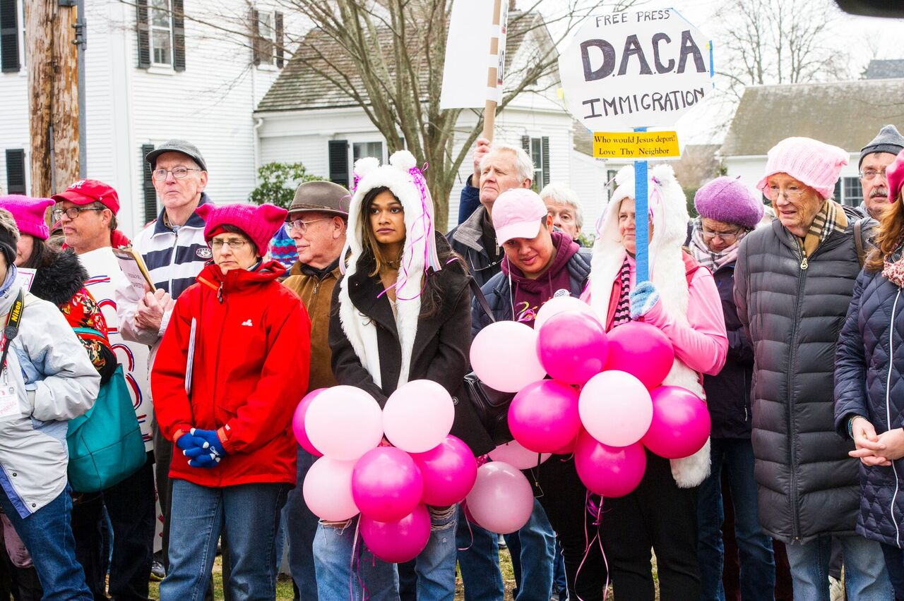 Sister March held on the Falmouth Village Green on Jan. 21, 2017